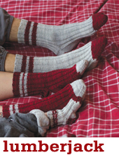 Lumberjack Socks by Tin Can Knits