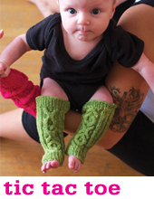 Tic Tac Toe Legwarmers by Tin Can Knits