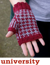 University Mitts by Tin Can Knits