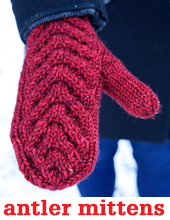 Antler Mittens by Tin Can Knits