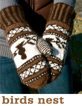 Birds Nest Mittens by Tin Can Knits